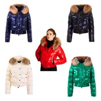Wholesale New Fox Fur Collar - Free shipping new fashion outdoor short section of the cold down jacket female super-warm and wild hooded winter coat