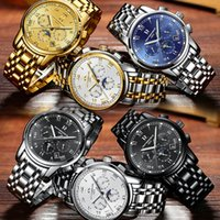 Wholesale Mens Water Proof Watches - Luxury Brand Automatic Men Watch Water-Proof Stainless Steel Tourbillon Skeleton Smart Light Wristwatch Fashion Mechanical Mens Watches
