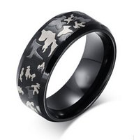 Wholesale Comfort Day - Tungsten Ring Black Camo Hunting Camouflage Polished Beveled Edge Outdoor Comfort Fit Wedding Bands Camouflage Engagement Band