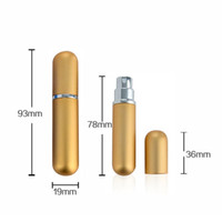 Wholesale Empty Glass Bottle Small Spray - Mix Colors 5ml Aluminum Glass Bottle Travel Refillable Bottles with Spray Empty Cute Tiny Small Perfume Bottle Alu Nozzle Home Fragrances