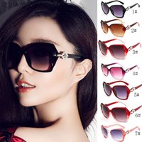 Wholesale Pink Select - Fashion big box lady sunglasses Trend big frame sunglasses Temperament sunglasses Travel holiday glasses 10 colors can be selected