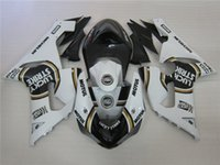 Wholesale Kawasaki Lucky - New ABS Motorcycle bike Fairing Kit Fit For KAWASAKI Ninja ZX6R 636 05 06 ZX 6R 2005 2006 zx6r 05 06 Fairings set color Black white lucky