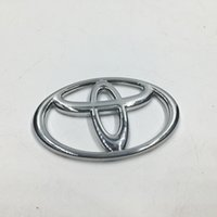 Wholesale 7 Sizes Chrome ABS Front Hood Badge Emblem Rear Car Logo Sicker For Toyota Corolla Vios Reiz Yaris Camry Rav4 Aurion