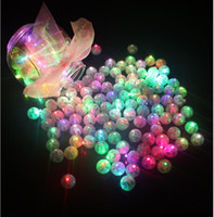 Wholesale balloons for halloween - 100Pcs Color Round Mini Led RGB Flash Ball Lamp Lantern Balloon Lights For New Year Deco Christmas Wedding Party Decoration