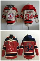 Wholesale Cheap Baseball Pullovers - Top Quality ! Cheap Boston Red Sox Old Time Baseball Jerseys #34 David Ortiz Red Cream Baseball Hoodie Pullover Sweatshirts Winter Jacket