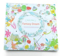 Wholesale Enchanting Girls - PrettyBaby secret garden coloring book painting drawing book 24 Pages Animal Kingdom Enchanted Forest Relieve Stress For Children Adult