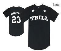 trill t-shirts großhandel-Freie Verschiffenhaube durch Luft T-Shirt HBA war trill 23 Zahlt-stücke schwarze Hip-Hop streetwear beiläufige lange Oberseiten Mannfrauen Baumwoll-O Halsrabatt