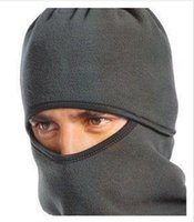 Wholesale Novelty Bike Helmets - Wholesale-Full Cover Face Mask Thermal Fleece Balaclava Ski Bike Winter Wind Stopper Out Door Sports Neck Helmet Hat Cap CS Hats