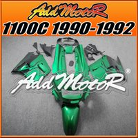 Wholesale Kawasaki 1992 - Fairings Addmotor Best Choice Compression Mold ABS For Kawasaki ZX11 ZZR1100C 1990-1992 90 91 92 Flames Green Black K1107+5 Free Gifts