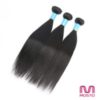 Wholesale Chinese Factory Extension - Factory Wholesale Unprocessed Brazilian Hair Weave Hair Bundles Natural color 1B Silky Straight Hair Extensions