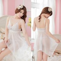 Wholesale Ladies Transparent Suit - Sexy Lingerie Sexy Ladies suit pure temptation transparent dress code Luru goods 8883