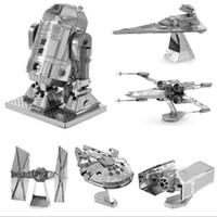 jouet impérial achat en gros de-HOT 3D Puzzle kits de modèles en métal Nano Puzzle F15 R2D2 kits de robot Imperial star Destroyer pour enfants adultes Chirstmas cadeau jouets de bricolage
