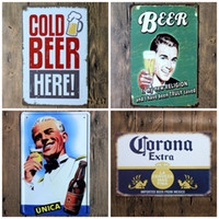 Wholesale Wholesale Decorative Metal Wall Art - Retro Tin Sign Many Styles Beer Metal Painting Decorative Wall Poster Originality Arts And Crafts Gift 4 99ljc C