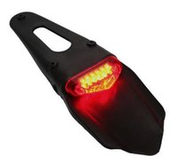 Alta qualidade Off Road Motorcycle Dual Sport Bike LED Rear Fender Freno Stop Tail Light CA