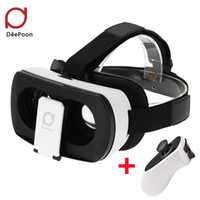 Compra Video 3d Reale-Vetri 3D Vetri DeePoon V3 Real Reali Virtuale Headset Casco 3D VR Gaming Video Bluetooth Gamepad per Android iOS APP