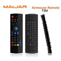Wholesale Top Android Stick - Portable Air Mouse T3M Microphone Suitable For Computer Android Smart Tv Box Set Top Box Media Player Pad Android Stick Game Consoles