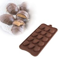 Wholesale Silicone Chocolate Easter Egg Moulds - One Piece Of High Quality Easter Egg Silicone Mold DIY Cake Decorating Jelly Chocolate Candy Bakeware
