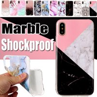 Para iPhone X Marble Case Scrub Stone Pintado de qualidade superior Soft TPU Silicone Protective Shockproof Back Cover para iPhone 8 Plus 7 6 6S