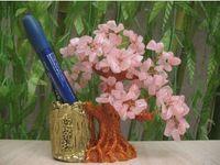 Wholesale Tree Africa - Beautiful 100% natural quartz crystal healing brush pot luck tree rose