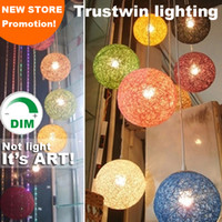 Wholesale Led Pendant Sphere Lights - Dimmable round sphere pendant light ball shade fixture for lounge sitting room hotel restaurant dinning room