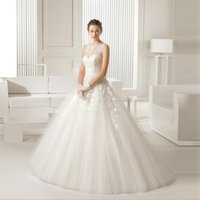 Wholesale Sexy Lace Line - 2016 Hot Selling High Quality Sexy Wedding Dresses A-Line Sweetheart Lace Applique Tulle Sweep Backless For Woman