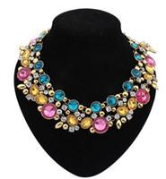 Wholesale Trend Fashion Vintage Choker - 2016 new hot necklaces & pendants Trend fashion colorful drop choker statement necklace pendant women jewelry vintage jewelry