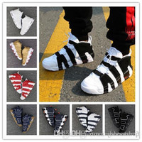 Wholesale Mens Red Loafers - (with box) 2017 new Air More Uptempo for High Quality Black Red White Oreo Mens Scottie Pippen Sneakers EUR 36-46