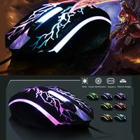 Wholesale Usb Flash Games - Cool flash game sports mouse usb wired mouse fashion glare