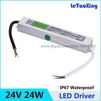 Wholesale Transformer 24v 1a - 50pcs AC DC 24V 24W LED Driver Transformern Waterproof Transformer 24V 1A Power Supply Adapter IP67 For LED Strip Free Shipping