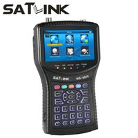 Wholesale Satellite Finder Spectrum - 1PC Original Satlink WS-6979 DVB-S2&DVB-T2 MPEG4 HD COMBO + Spectrum Satellite Meter Finder WS6979 satlink finder Meter
