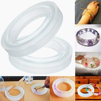 Wholesale 1Pc Silicone Round Bracelet Mold Casting Mould For Resin Bangle Bracelet Jewelry Making Tools