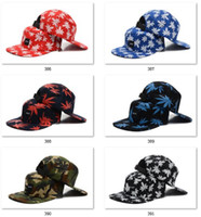Wholesale Flying Gear - Best Seller Snapbacks Baseball Snapbacks for Men womens Camo Cannabina Hats Dead Fly Fixed Gear Skateboard Hip-hop hats 5pcs Cap Sunhats