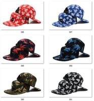 en iyi hip hop kapakları toptan satış-Erkekler için Best Seller Snapbacks Beyzbol Snapbacks bayan Camo Cannabina Şapka Ölü Sinek Sabit Dişli Kaykay Hip-Hop şapka 5 adet Kap Sunhats