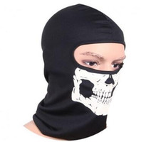 ingrosso sciarpe invernali del motociclo-Halloween Skull Skeleton Party Masks Black Motorcycle Multi Function Headwear Cappello Sciarpa Collo Spaventoso Sport Face Winter Ski Mask