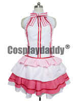 SAO Sword Art Online Yuuki Asuna Idol ver Cantante Pink Stage Dress Cosplay