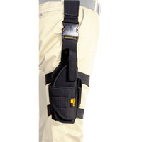 Tactical Vertical Belt Drop Leg Puttee Peito da perna Pistola Gun Holster Molle com revista Pouch Fit Most Handgun