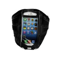 Wholesale Sport Case Iphone5 - Wholesale-Sports Mesh Gym Running Jogging Arm Band Holder Case Pouch For iphone5 5S