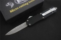 Wholesale Microtech Combat Troodon Drop Point - Microtech Combat troodon A07 pocket knives Damascus blade Fine edge Drop point single blade rescue knife Tactical pocket knife knives