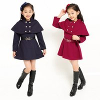 Wholesale Two Piece Coat Dress Girls - Children's Clothing Two-piece Shawl + Dress Suit 2016 New Autumn Style Girls Princess Dress Baby Girl Dress Set Kids Clothes