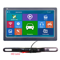 lcd ekran sistemi toptan satış-7 Inç Araba GPS Navigator HD 800 * 480 LCD Dokunmatik Ekran Kablosuz Yedekleme Kamera Sistemi Ile Bluetooth AVIN Kamyon Navi