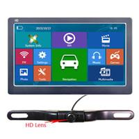 sistema de tela lcd venda por atacado-7 Navegador GPS do carro HD 800 * 480 LCD Touch Screen Bluetooth AVIN Truck Navi com sistema de câmera de backup sem fio