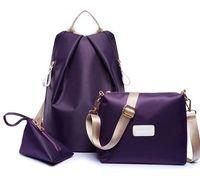 Wholesale Pretty Backpacks - 3pcs set composite lash nylon backpack bag handbag bag Women eastpack school bag mochilas east pack backpacks for teenager pretty backpack