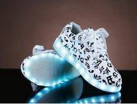 online Shopping Led Luminous Shoes - colorful notes luminous women shoes Korean tidal Colorful LED lighting USB shoes casual men women Shoes Free shipping