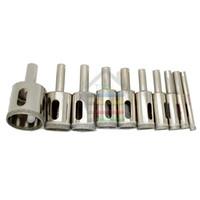 Wholesale Drill Bits For Granite - High Quality New 10pcs set 6-30mm Diamond Glass Hole Saw Core Drill Bits For Glass Marble Tile Or Granite order<$18no track