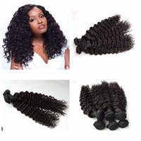 Wholesale peruvian weave hairstyles for sale - Group buy High Quality Cheap Brazilian Human Hair Weave Malaysian Indian Hair Bundles Weft Original Deep Wave New Arrival Hairstyle G EASY