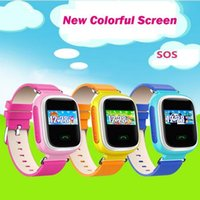 Orologio Smart Watch del nuovo Kid GPS SOS chiamata locatore Finder Locator dispositivo dispositivo d'esplorazione per Kid Sicuro Safe Anti Lost Monitor Baby Gift Q60