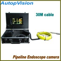 Wholesale Sewer Drain Video Inspection Camera - 30M DRAIN PIPE SEWER PIPELINE ENDOSCOPE INSPECTION VIDEO CAMERA SYSTEM USB DVR 7 inch LCD DVR