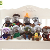 Big Kids Unisex Anime & Comics Arrival Plants vs Zombies Plush Toys Soft Stuffed Toys 30cm DIY PVZ Zombies Plush Toy Doll for Kids Children Xmas Halloween zombie Gifts