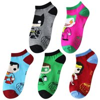 Sock Slippers black lantern superman - 5pairs hot selling funny socks Cartoon Character Socks Superman Green Lantern Wonder Woman Joker Socks