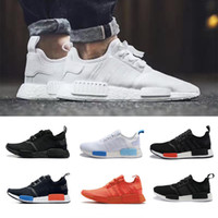 Wholesale 3m Shoes Laces - 2017 Cheap NMD Runner R1 Again Triple black White orange pk 3M Primeknit Men Women Classic nmds boost Running Shoes sports Sneakers 36-45